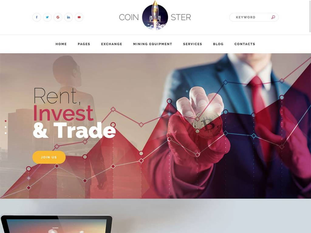 Coinster-Cryptocurrency-WordPress-Theme