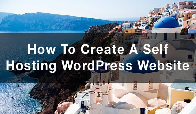 self hosted wordpress website