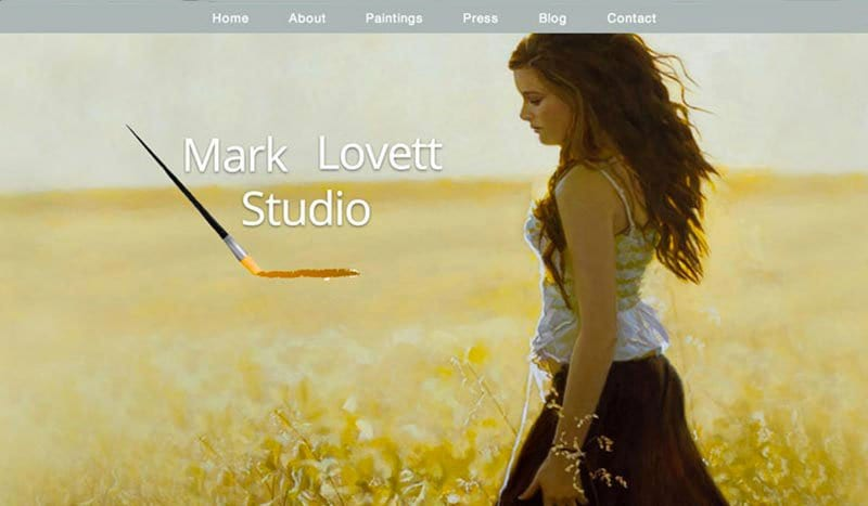 Mark Lovett Studio Oil Painter
