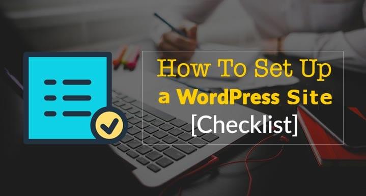 checklist wordpress site image