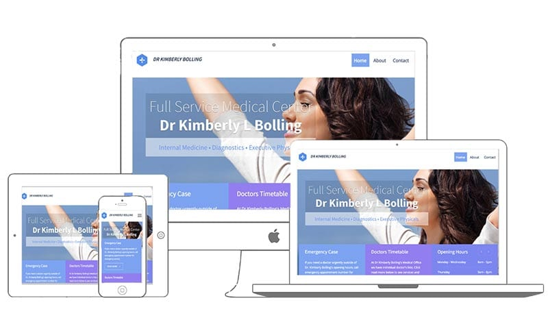 Medical Site - Dr Kimberly L Bolling by mark lovett web design